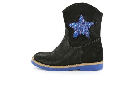 ShoesMe Star/Heart Boot (Cobalt Blue Glitter)